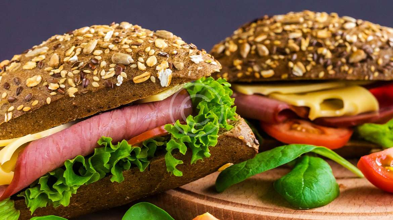 Burger with ham